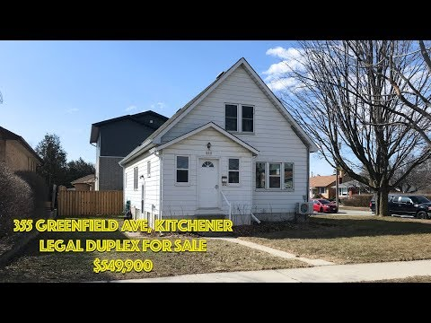 355 Greenfield Ave - Legal Kitchener Duplex (NEW LISTING $549,900)