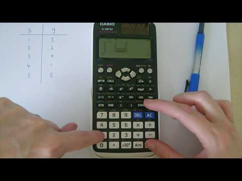 Casio fx-991EX Classwiz calculator. Finding pmcc and regression lines