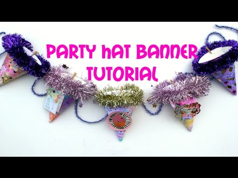 Party Hacks: How to Make a Party Hat Banner: Party Hat DIY & Party Decor