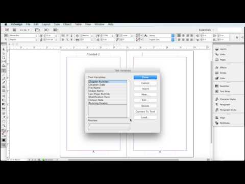 How To Set Up Master Pages For Your Book Adobe Indesign CS6