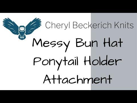 Messy Bun Hat Ponytail Holder Attachment