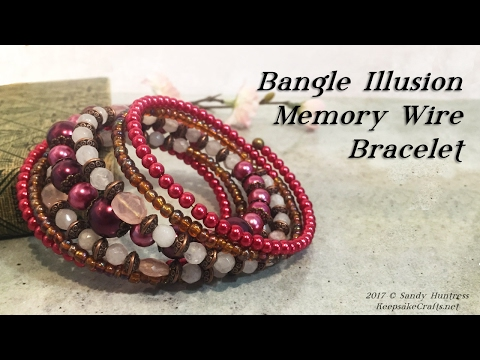 Bangle Illusion Memory Wire Bracelet-Jewelry Tutorial