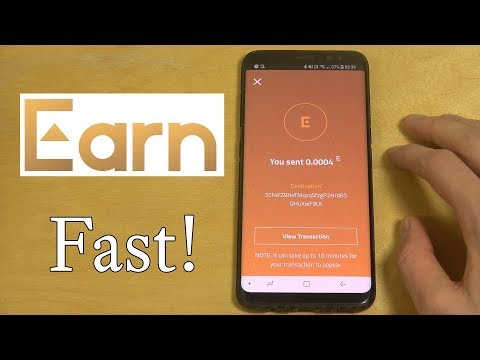 Cash out My Earned Bitcoin From Earn.com!