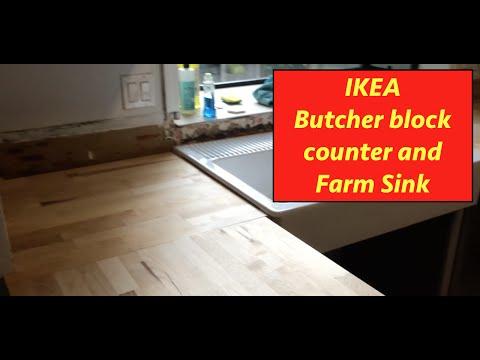 Ikea Butcher Block Install E24