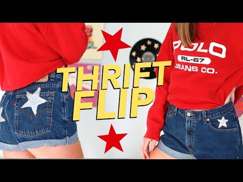 DIY THRIFT FLIP | transforming thrifted clothes!