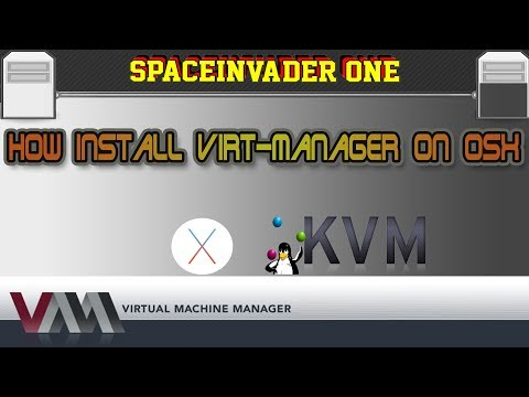 How to install virt manager on OSX to manage KVM virtual machines
