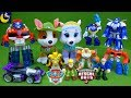 Surprise Paw Patrol And Transformers Rescue Bots Tracker Everest Heatwave Bumblebee LOTS Of Toys