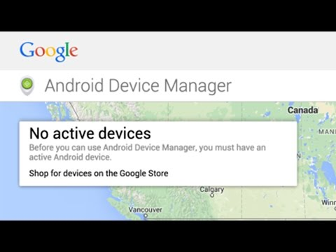 Fixing Android Device Manager (No Device Found)