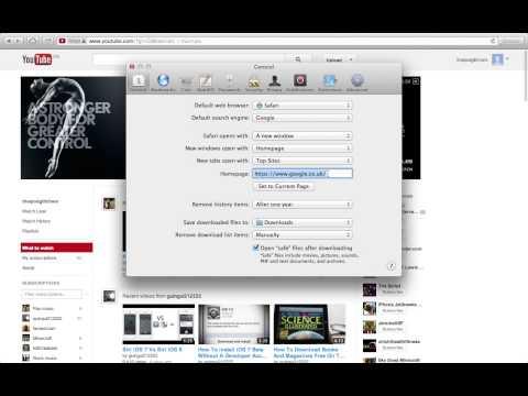 how to change ur homepage on safari mac