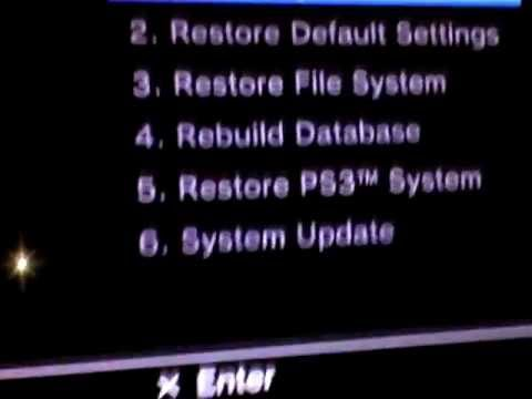PS3 SERVICE MENU!!! Factory Reset & Restore REVIEW
