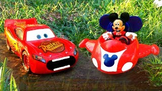 Disney Cars 3 Toys Lightning McQueen Car Big Race Mickey Mouse Surprise FINISH Pixar Toy Story Movie