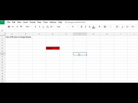 How to Use Fill Color Option in Google Spread Sheets