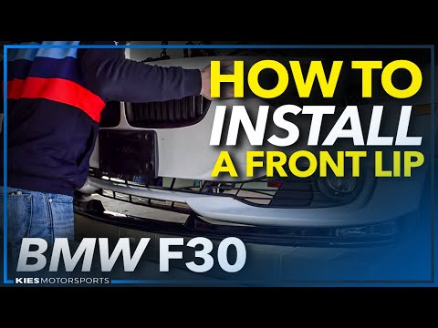 BMW F30 Base Front Bumper Lip Install and Bumper Removal Guide