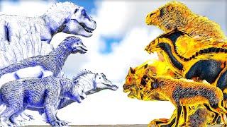 Ascended Celestial Creatures VS Fallen Demonic Creatures | ARK Mod Battle Ep.147