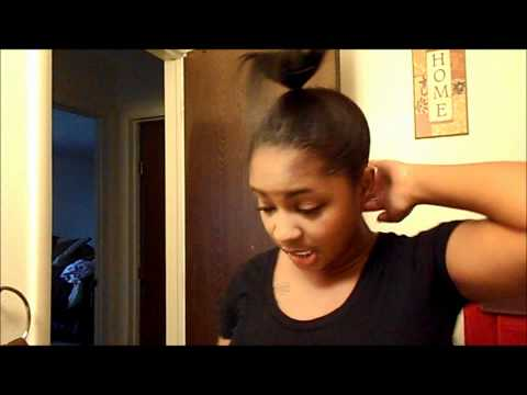 How To | Easy High Bun For Short/Thin Hair Ladies w/ Extensions