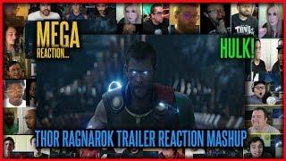 THOR RAGNAROK Comic-Con TRAILER 2017 REACTION MASHUP   REACTION MASH UP