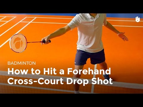 How to Hit a Forehand Cross-Court Drop Shot | Badminton