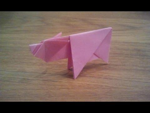 How To Make an Origami Pig / Piggy