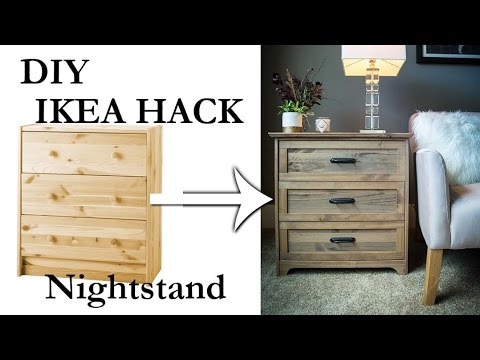 DIY IKEA Rast Nightstand Hack