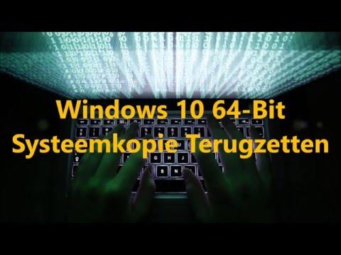 Windows 10 Systeemkopie Terugzetten