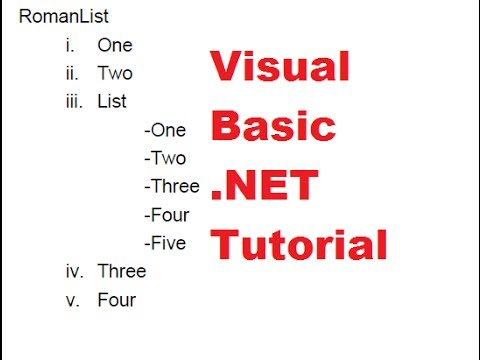 Visual Basic .NET Tutorial 48 - How to create Lists with iTextSharp PDF file