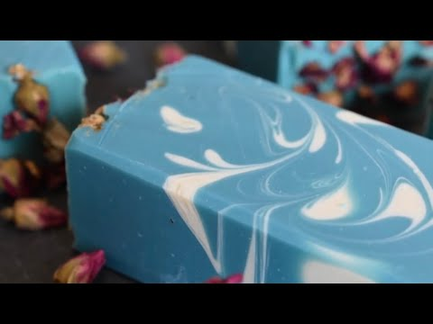 Making and Cutting Tranquility ~ A cold process handmade soap