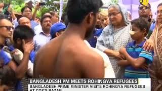 Bangladesh PM visits Rohingya refugees at Cox