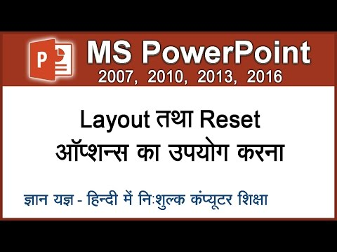 How To Apply Or Change Layout Of A Slide & Reset A Slide In PowerPoint In Hindi – Lesson 6