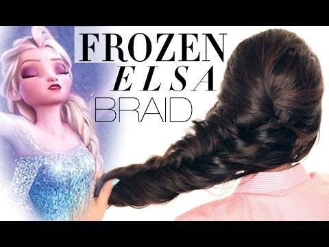 ★FROZEN reinvented ELSA BRAID HAIR TUTORIAL | Disney Hairstyles