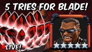5x 5 Star Featured Blade Crystal Opening! - Marvel Contest Of Champions
