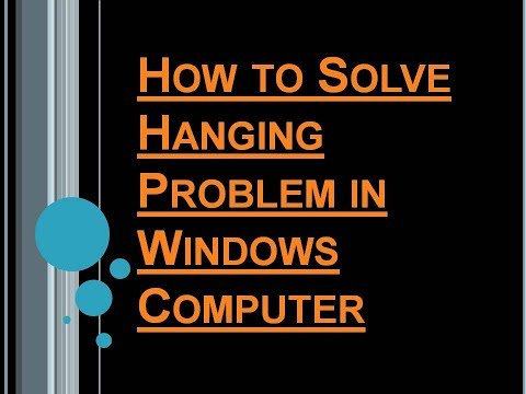 How to Solve Hanging Problem in Windows Computer(Sai Computer)