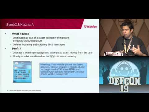 DEF CON 19 - Jimmy Shah - Mobile App Moolah: Profit taking with Mobile Malware