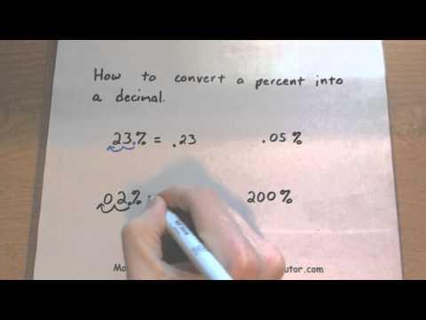 Consumer Math - How to Convert a Percent to Decimal
