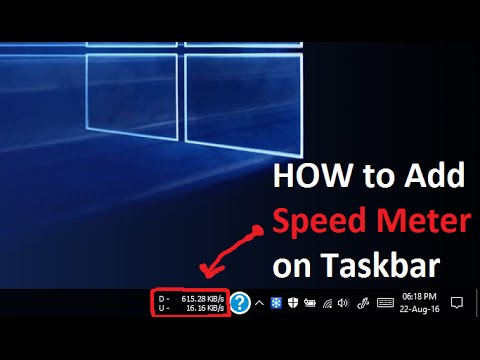 How to Add Speed Meter in Desktop Taskbar (Windows 10 | 8.1 | 8 | 7 | XP)