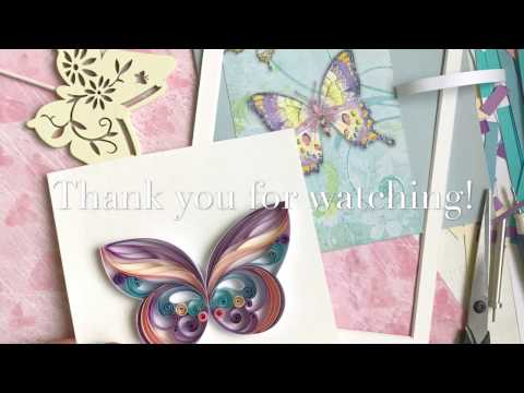 QllArt / Quilling design butterfly/ Quilling pattern greeting card with butterfly