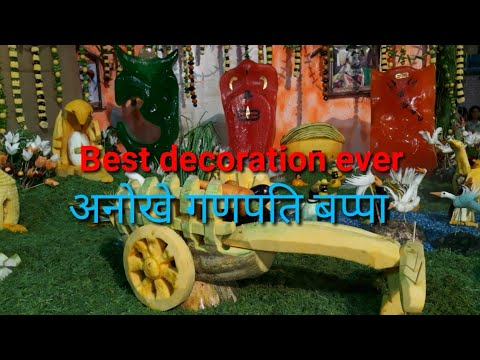 Eco-friendly Ganpati Bappa | vegetable decoration | Ice Murti | mumbai