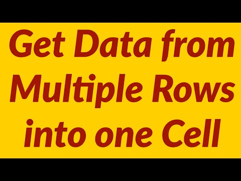 How to get Excel data from multiple rows into a single cell