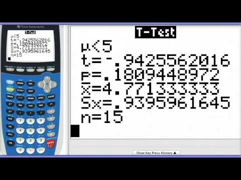 One Sample T-Test on Calculator