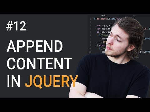 12: Append Content Using jQuery | jQuery Tutorial | Learn jQuery | jQuery Library | jQuery Append