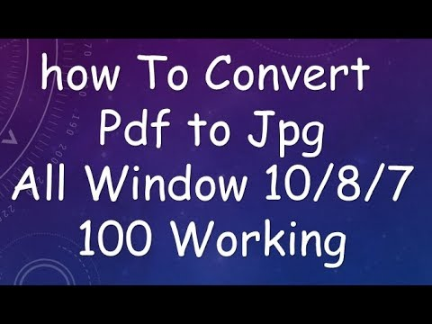 how to convert pdf to jpg 2017