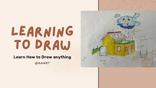 Easy Drawing of harvesting rain water    SAVE WATER SAVE
