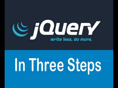 jquery tutorial in three steps beginners