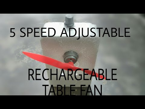 How to make a Table fan with speed regulator