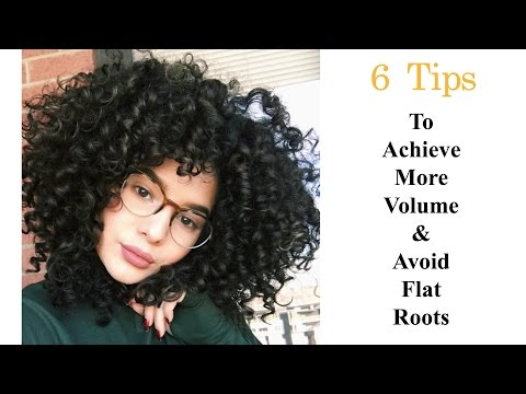 Tips On How To Achieve More Volume & Avoid Flat Roots | Curly Hair
