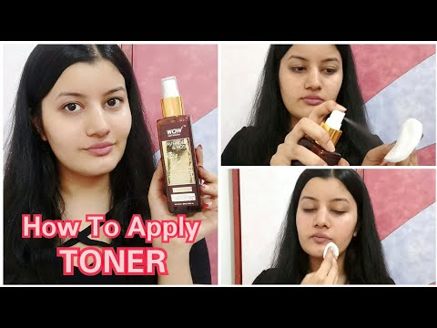 How To Apply Toner Correctly || WOW Lavender & Rose Toner