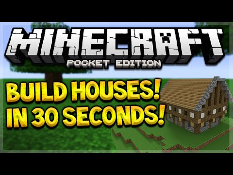 BUILD MCPE CITIES IN SECONDS!! Minecraft PE 0.15.3 - Build Castles, Houses & In 30 Seconds!