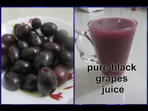How to prepare black grapes juice in easy steps