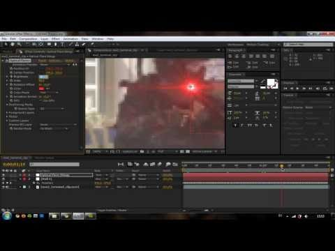 How to: AE Red Laser Effect with Optical Flares [HD]