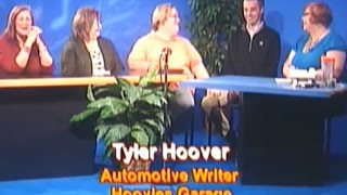 I Sit Between Two Ferns to Promote Hoovies Garage on Local TV