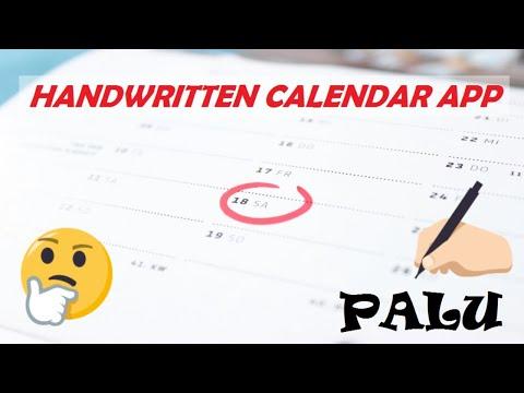 Best Handwritten Calendar App || Best App for Journaling ||  Palu